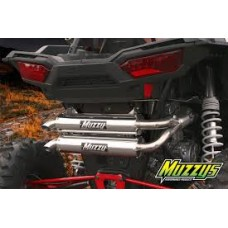 2015 Polaris RZR XP-1000/4 Stainless Steel Full Exhaust System with Dual Aluminum Canisters