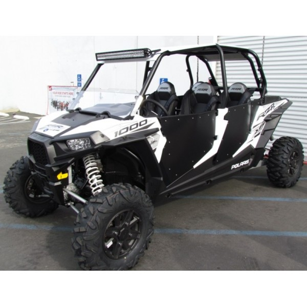 UTV KINGZ Polaris RZR 4 XP1000/900 XP 4 Turbo Aluminum Roof With 30u0027u0027 LED  Light Bar
